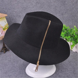 Autu Winter Wide Brim Fedora Men black Jazz Hat Flat Brim Felt Cap Trilby  100% 3131da60bbe