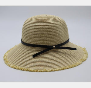 Straw Hat Women Wide Brim Summer Beach Sun Straw Hat Floppy Elegant Bohemia Cap Straw Hats For Women Fashion Foldable Hat