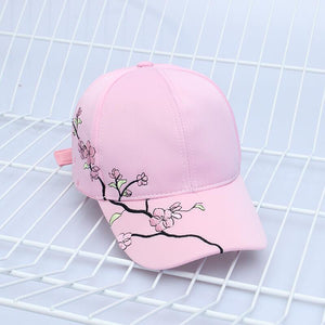 Women Summer Hats Symmetrical Flower Embroidery Built-in insulation Knitted Hats Femme Baseball Cap Adjustable