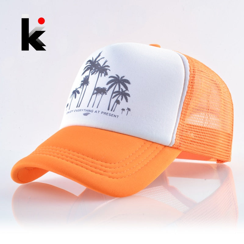 Snapback Mesh Baseball Cap Summer Outdoor Sport Hats For Men Women Fashion Trucker Caps Boys Girls Hip Hop Skateboard Casquette