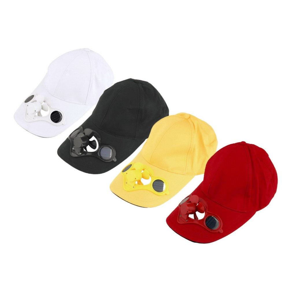 2a965dcad31 Solar Powered Fan Hat Men Women Summer Caps with Solar Sun Power Co Fan  Energy save No batteries required Beach Hats Freeship