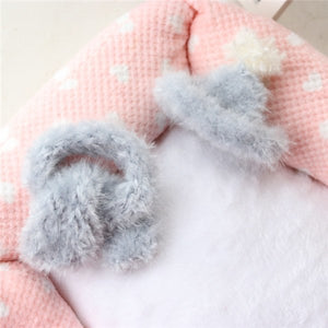Sold by Set !Handmade Knitted  Kawaii Pets Store Warm  Lovely Dog Hats Cap Scarf for Small  Pets Cats Maltese Yorkie Winter