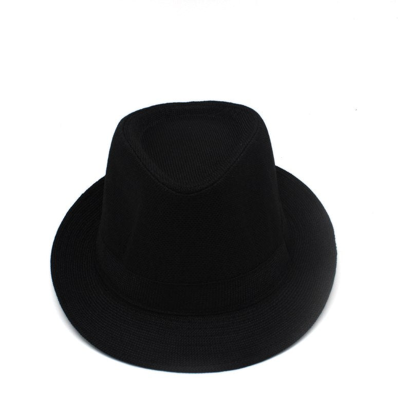 Solid Retro Jazz Caps Hats Fedoras Stingy Brim formal Top Hat Bowler hat Outdoor Travel Beach cap for men women unisex