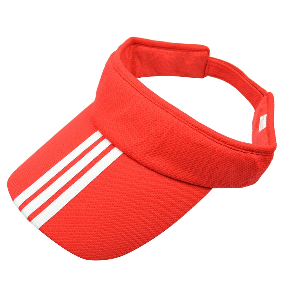 Sports Tennis Golf Sun Visor Hat Hats Adjustable Plain Bright Color Men Women