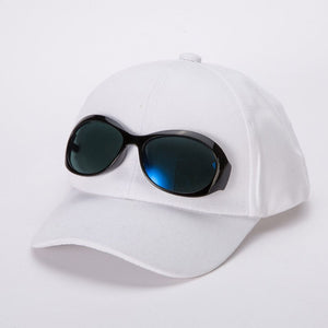 fe08a35f63c Spring Summer Kids Accessories Boys Girls Cotton Baseball Cap with  Sunglasses