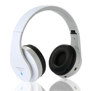 Stereo Handsfree Headfone Casque Audio Bluetooth Headset Earphone Wireless Cordless Headphone for Computer PC Aux Head Phone Set