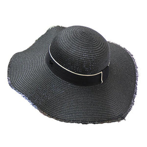 b053fe7ae11a7 Straw summer hats for women ladies England style M letter beach sun hat  wide brim men