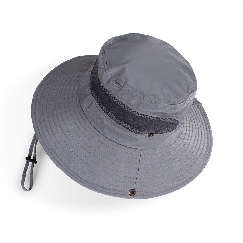 95b4ff7d Load image into Gallery viewer, Summer Bucket Hat Breathable Mesh Beach  Hats Man Wide Brim ...