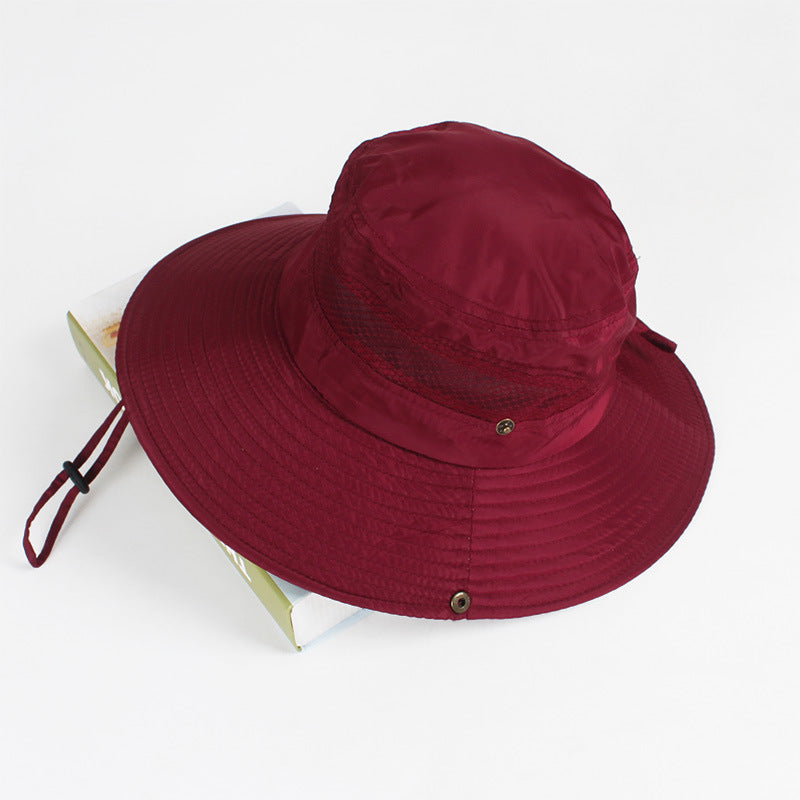 3c3929d7 ... Load image into Gallery viewer, Summer Bucket Hat Breathable Mesh Beach  Hats Man Wide Brim ...