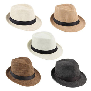 eea78f231bc00 Summer Bucket Hat Men Women Straw Hat Beach Sunhat Fedora Trilby Straw  Panama Gangster Caps Fit