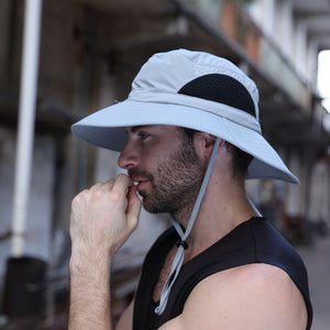 Summer Fishing Hat Breathable Mesh Beach Hats Man Women Wide Brim Sun Men's Outdoors UV Protection Fishings Caps