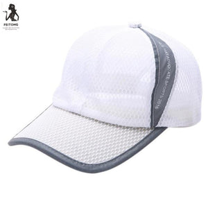 Summer Hat Men'S And Women'S Summer Pure Color Breathable Mesh Baseball Cap Czapka Z Daszkiem