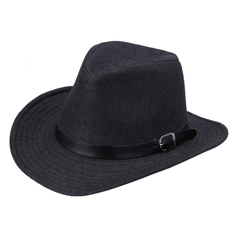 Summer Men Hat Straw Hat Cowboy Hat Fashion WESTERN COWBOY Cavalry Hatband HOT