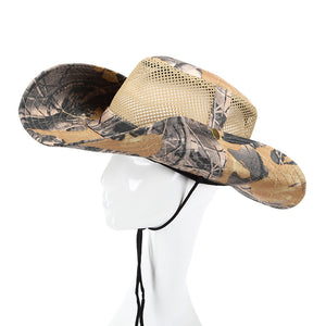 831516dc3a7fc1 Summer Outdoor Hiking Climb Fishing Sunscreen Breathable Mesh Net Bucket  Boonie Cap Round Brim Military Camouflage hurting Hats