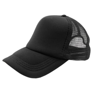 Summer Plain Trucker Mesh Hat Snapback Blank Baseball Cap Adjustable Size Men Women