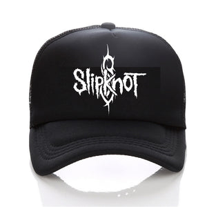 Summer Style Fashion Men cap Black Snapback cap Men's hat Cot  Band Slipknot Baseball Cap