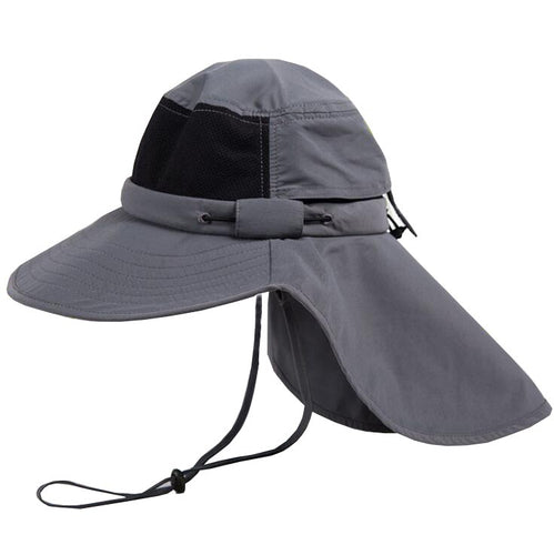 Summer Sun Hat Men Boonie Hats Nepalese Cap Bucket Hat Army Mens Military Hiking Fishing Hat With Flaps UV Protection UPF50+