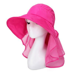 6c93ec39bf1 Summer Sun Hats for Women Simple anti UV with foldable scarf hat little flower  design protect