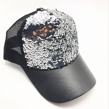 Load image into Gallery viewer, Summer Women Baseball Caps Sequins Mesh Cap Adjustable Fashion Hats Snapback Sports Floral Paillette Adjustable Summer Gorras