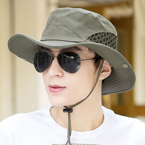 Summer breathable fishing hats caps for men Solid foldable air holes design  sun cap Male fisherman bucket hat type BC01 2018 821c84924102