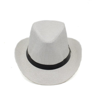 a8ab24ded9a Summer paper straw Fedoras jazz hats with Belt Buckle Outdoor wide brim  Beach Travel Sunhat sunshade Cowboy Hat for men women