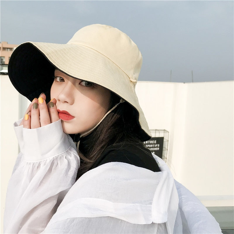 Sun Hats For Women Summer Beach Women Hat Brim Ladies Sun Hat Casual UV  Protection Foldable Beige Black Yellow Purple Hats Lady 471d345672a
