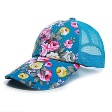 Load image into Gallery viewer, Sunscreen Rose Floral Print Baseball Cap For Women Men Sport Mesh Caps Breathable Casual Golf Hats Snapback Hat