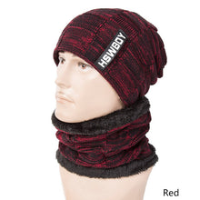 Load image into Gallery viewer, SuperB&G Warm Winter Hat Women Men Knitted Thick Beanie Hats Scarf Male Plus Velvet Unisex Warm Winter Skullies Beanies