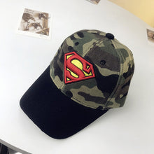 Load image into Gallery viewer, Superman Baseball Cap Kids Boys Girls Hip Hop Snapback Caps Casquette Gorras Batman Spiderman Lightning Camouflage Full Cap