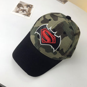 Superman Baseball Cap Kids Boys Girls Hip Hop Snapback Caps Casquette Gorras Batman Spiderman Lightning Camouflage Full Cap