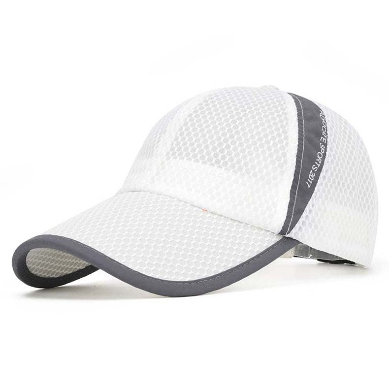 Men's Casual Caps Summer Breathable Mesh Baseball Cap Men Sun Cap UV Protection Women Camp Hats Headwear TD-BDYSM-001