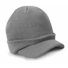 Load image into Gallery viewer, Stylish Men Warm Baggy Crochet Visor Brim Beanie Ski Cap Baggy Oversized Knit Skull Hat