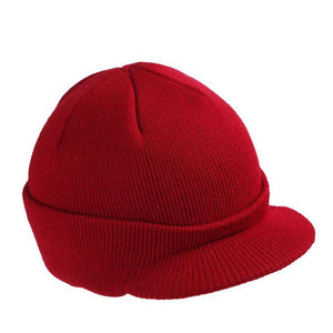 Stylish Men Warm Baggy Crochet Visor Brim Beanie Ski Cap Baggy Oversized Knit Skull Hat