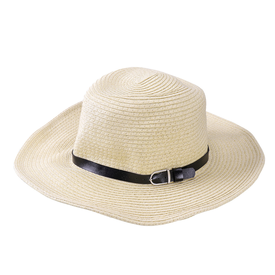 TINKSKY Men Wide Brim Hat Summer Beach Straw Cap Sun Floppy Foldable Hats for Adults