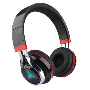 LED audifonos Bluetooth Headphones Glowing Foldable Earphone Wireless Stereo Music Headset With Mic FM Radio TF Headset
