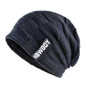 Brand bone men's Winter Hat knitted wo beanies men Hip-Hop capTurban Caps Skullies Balaclava Hats For women gorros