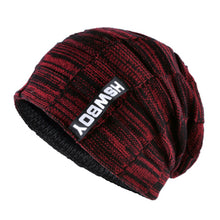 Load image into Gallery viewer, Brand bone men's Winter Hat knitted wo beanies men Hip-Hop capTurban Caps Skullies Balaclava Hats For women gorros