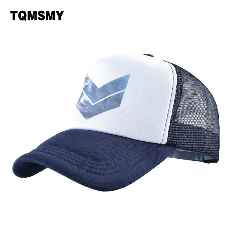 Casual Men's Mesh Baseball Cap for Women Men Printing Geometry Snapback Hats Beach Hip Hop Caps Baseball Hats TMBS123
