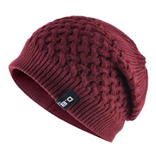 Load image into Gallery viewer, Warm Men Beanie Caps teenager Winter Hats For Man Knitted Beanies Hat Mesh Gorra Bonnet Bone Caps Man and Women TMD30