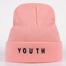 Load image into Gallery viewer, New women men hat fashion winter cot warm hat youth letter black Skullies & Beanies hats Gorros winter wo warm hat