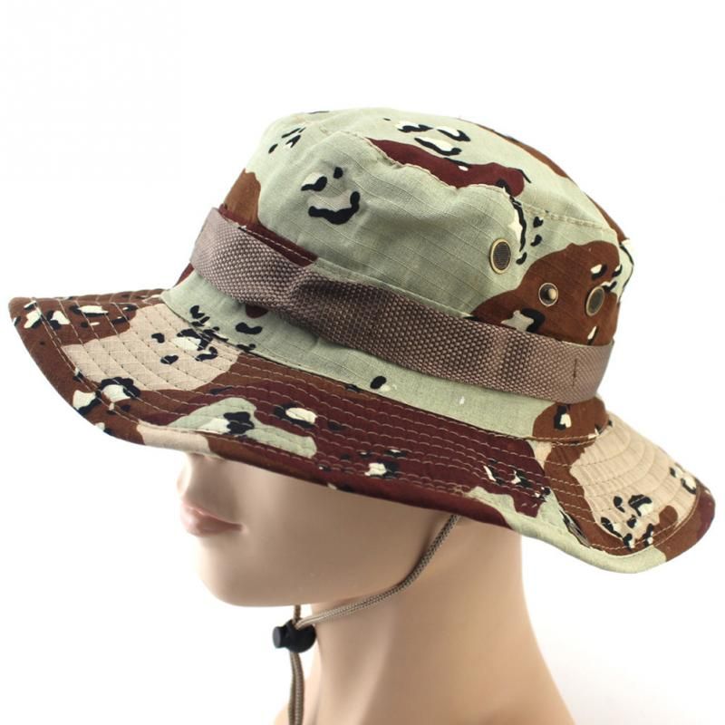 3cdd24877a2 Tactical Bucket Boonie Hats Airsoft Sniper Camouflage Nepalese Cap ...