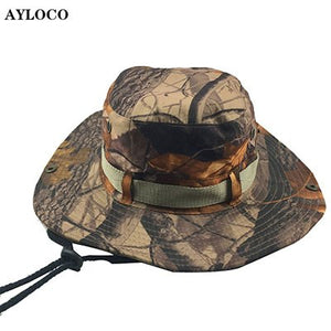 ff37e7b7986 Tactical Caps Camouflage Boonie Sunhat Nepalese Cap Militares Army Mens  Military Hiking Hats Summer Bucket Hat