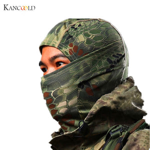 Tactical Full Face Mask Hood Balaclava Headgear Caps Camouflage Hunting Hat Winter Neck Warm Headwear Masks Camo Hunting Hats D