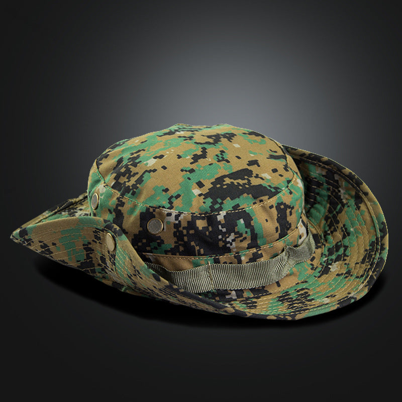 dc3382076d2 Tactical US Army Camouflage Bucket Hat Men Camo Wide-brim Snapback ...