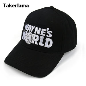 Wayne's World Black Cap Hat Baseball Cap Fashion Style Cosplay Embroidered Trucker Hat Unisex Mesh Cap Adjustable Size
