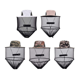 d9e470a160398 Top Midge Insect Mosquito Cap Unisex Knit Bucket Hat Net Head Shield Net  Fishing Camping Wild Jungle Facial Mask Protect Cap
