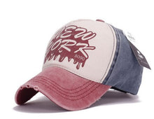 Load image into Gallery viewer, Trend Lady Hat Cot 8090 Letter Washed Baseball Cap Tide Men Sun Hat Wholesale