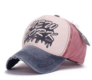 Trend Lady Hat Cot 8090 Letter Washed Baseball Cap Tide Men Sun Hat Wholesale