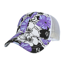 Load image into Gallery viewer, Trucker Hat Women Men Adjustable Colorful Flower print Baseball Hat Mesh Cap Casquette Homme