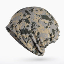 Load image into Gallery viewer, Turban Hat Camouflage Beanie Stocking Hats For Women Men Baggy Cap Hip Hop Hat Female Skullies Beanies Scarf Mask Bonnet